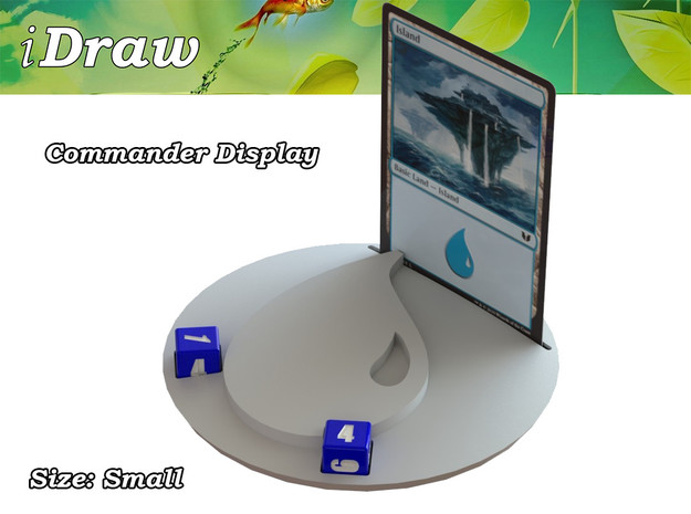 Commander Display Blue in White Strong & Flexible: Small