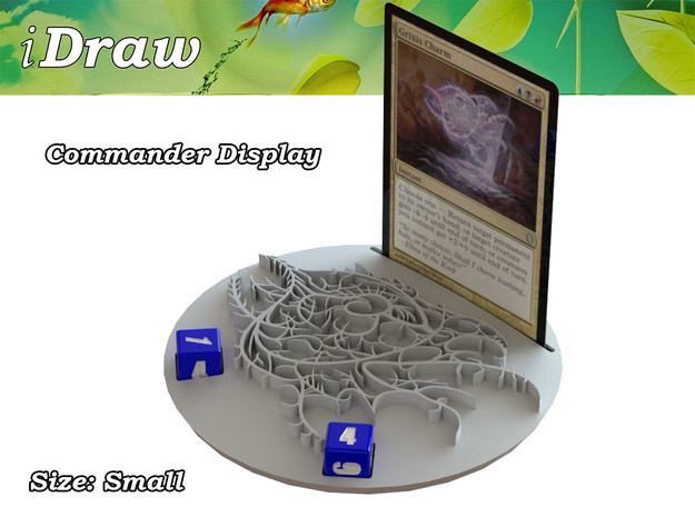 Commander Display Grixis in White Natural Versatile Plastic: Small