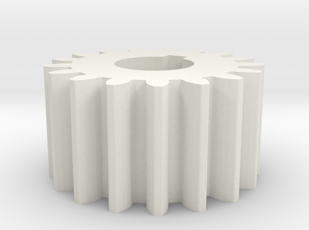 Cylindrical gear Mn=1 Z=17 AP20° Beta0° b=10 HoleØ