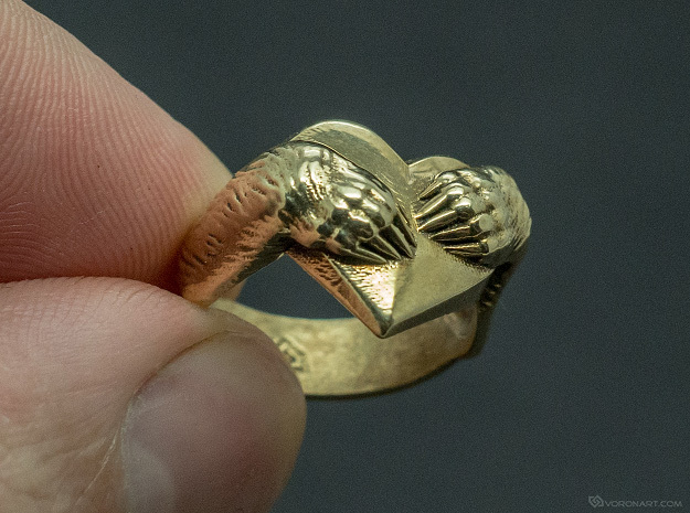 """Bear hug"" Ring in Polished Brass: 11.5 / 65.25"