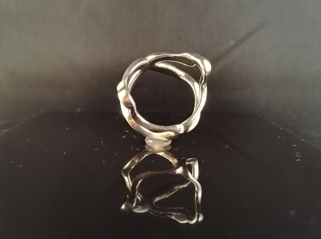 Mind generated ring - my idea of art in Polished Silver: Medium