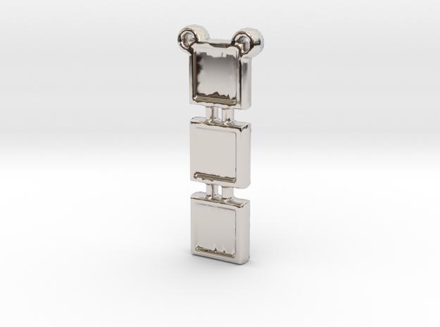 V18 CH in Rhodium Plated Brass