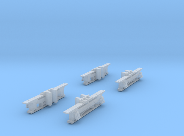 Sideframes for N Scale Baldwin Steeplecab in Frosted Ultra Detail