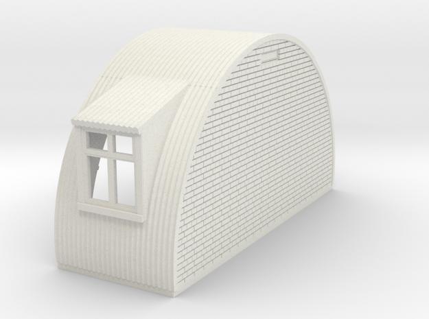 N-76-end-brick-nissen-hut-2-wind-1a in White Natural Versatile Plastic