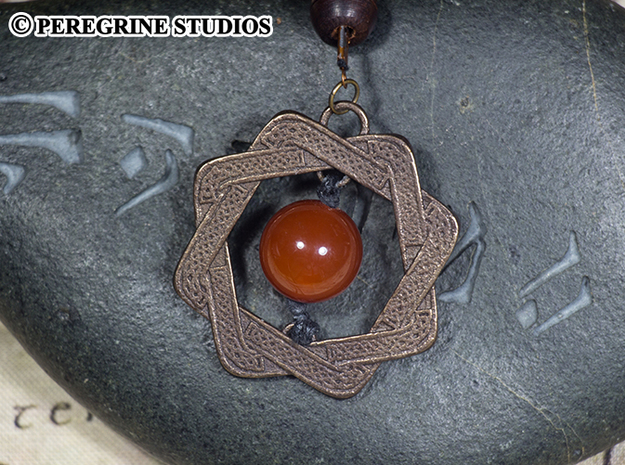 Pendant - Amulet of Arkay in Polished Bronze Steel