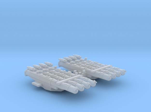1/600 Scale RN WW2 Quad Torpedo Tubes x2