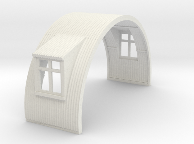 N-76-complete-nissen-hut-mid-16-two-wind-1a in White Natural Versatile Plastic