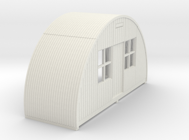 N-76-front-end-nissen-hut-16-36-1a in White Natural Versatile Plastic