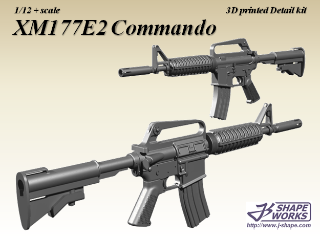 1/9 XM177E2 Commando in Frosted Extreme Detail
