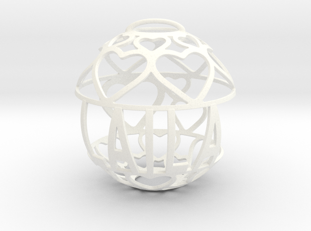 Laila Lovaball in White Processed Versatile Plastic