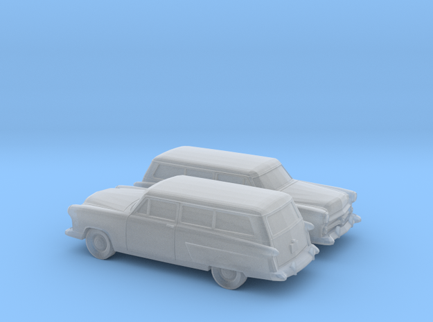 1/160 2X 1952 Ford Crestline Ranch Wagon in Smooth Fine Detail Plastic