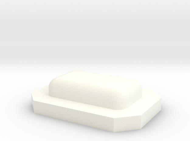 Pop in White Processed Versatile Plastic