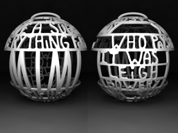 Mimi Quotaball in White Processed Versatile Plastic