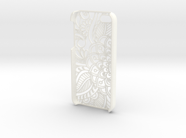 "Iphone ""SE"" Case - Flower in White Processed Versatile Plastic"