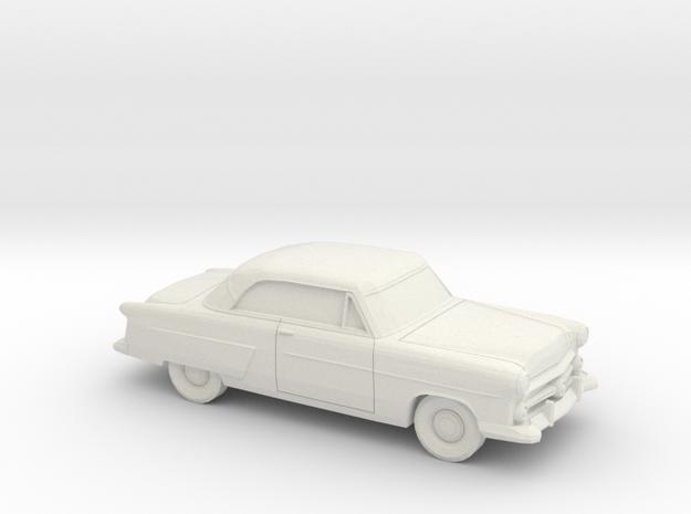1/87 1952 Ford Crestline Victoria Coupe in White Natural Versatile Plastic