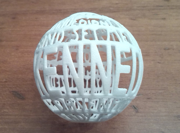 Kennedy Quotaball in White Processed Versatile Plastic