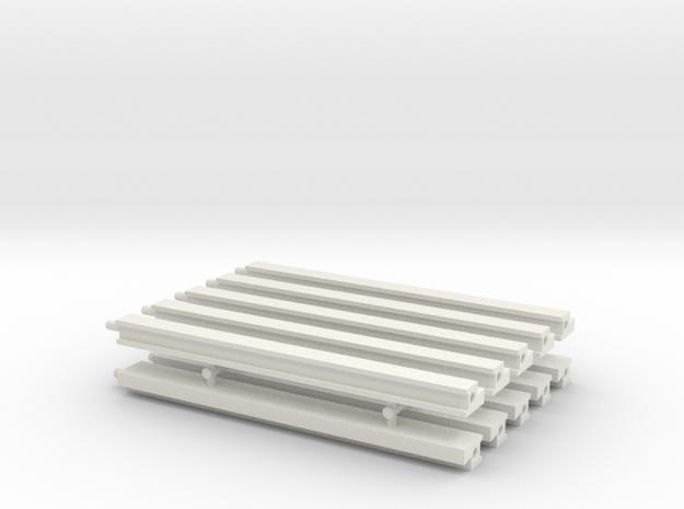 MOF Roof - Back(10) in White Natural Versatile Plastic