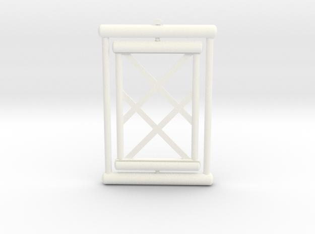 Gift Card Hanger in White Processed Versatile Plastic