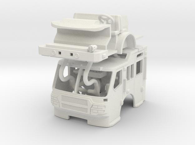 1/64 E-One Quest Raised Roof cab in White Natural Versatile Plastic