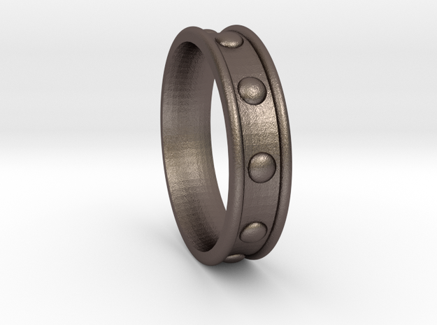 Studded Collar Ring in Stainless Steel