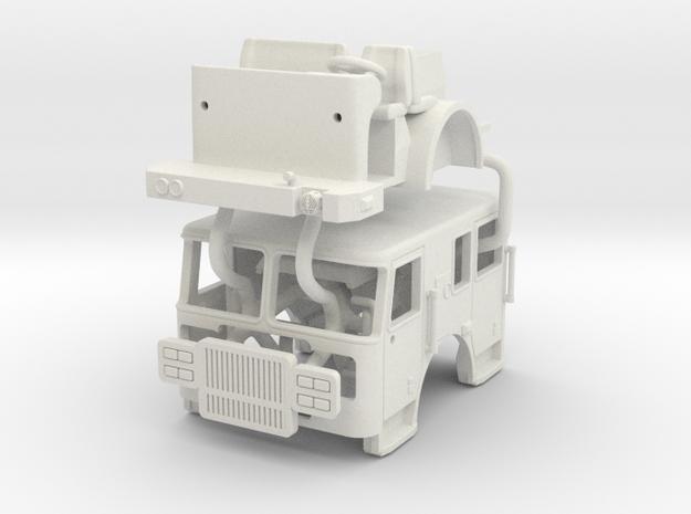 1/64 Seagrave Marauder II  Flat Roof cab in White Natural Versatile Plastic