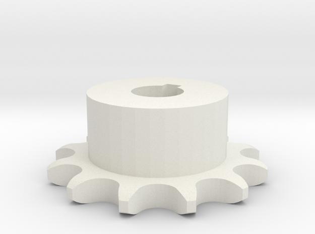 Pignone Per Catena Semplice ISO 04B-1 P6 Z12 in White Natural Versatile Plastic