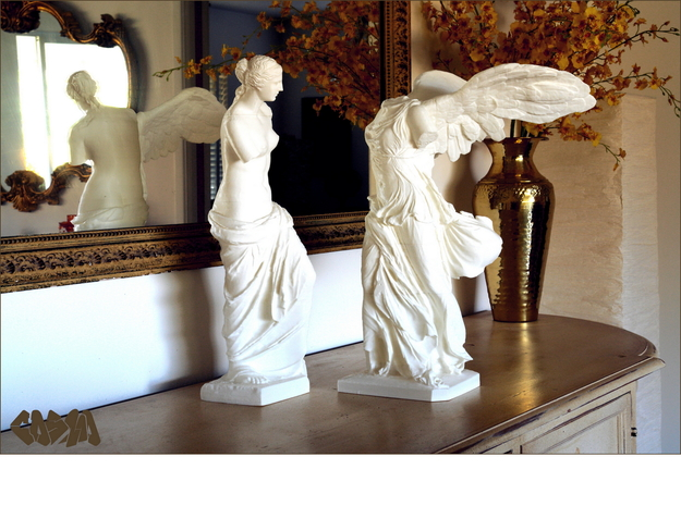 "Venus de Milo (9.6"" tall) 3d printed Venus de Milo and Winged Victory (19.4"" and 20"" versions shown. Winged Victory not included)"