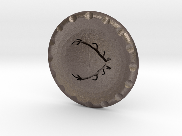 Golf Ball Marker House Baratheon in Polished Bronzed Silver Steel