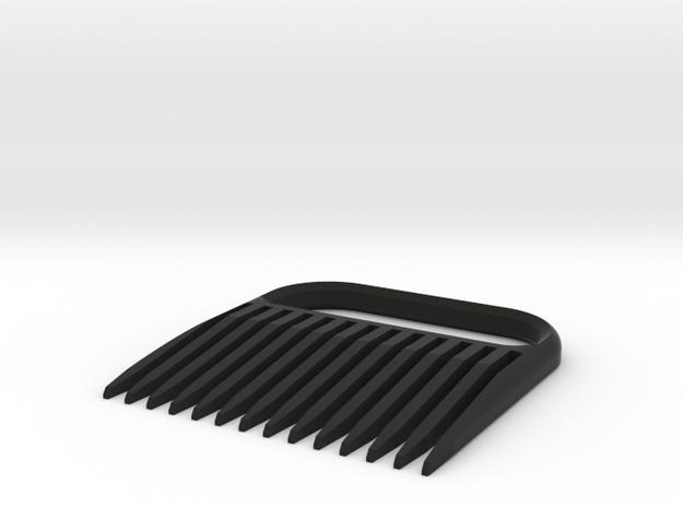 Beard Comb 6 in Black Natural Versatile Plastic