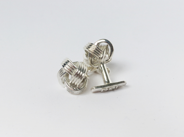 Knot Cufflinks in Polished Silver