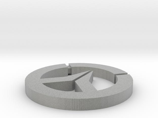 OverWatch Pendant Necklace in Metallic Plastic