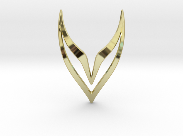 LONELY WINGS Fly, Pendant in 18k Gold Plated
