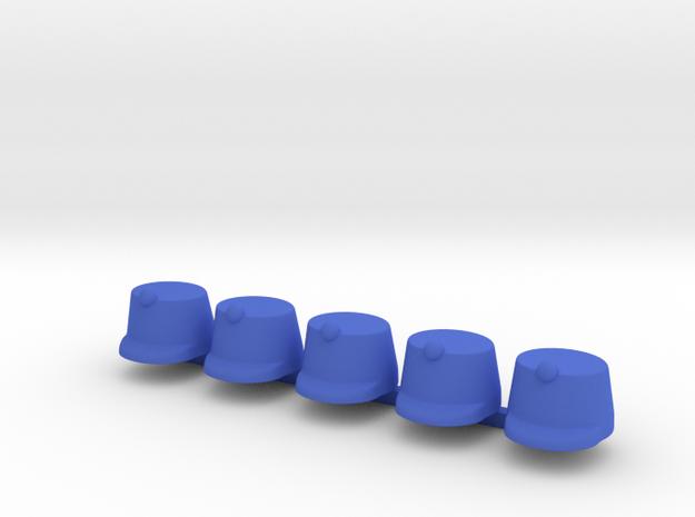 5 x Austrian Kaeppi in Blue Processed Versatile Plastic