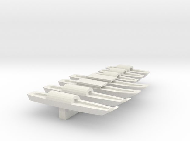 1/285 Scale Vietnam Sampans in White Strong & Flexible