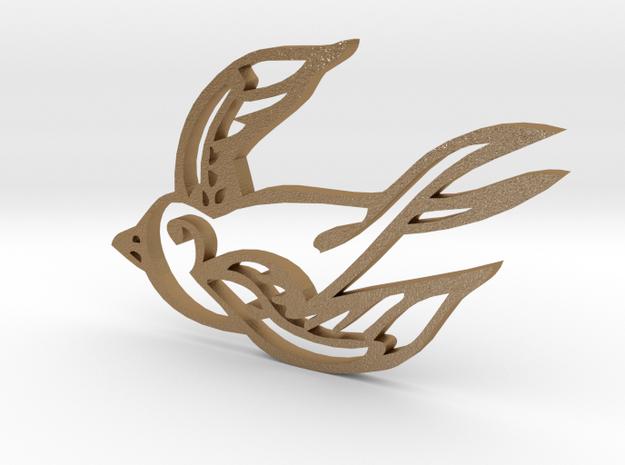 Swallow in Matte Gold Steel