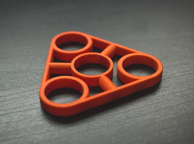 The Truss - Fidget Spinner - EDC in Orange Strong & Flexible Polished
