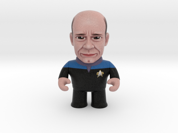 EMH Doctor Star Trek Caricature in Full Color Sandstone