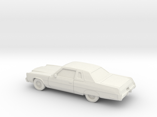 1/43 1974-78 Chrysler New Yorker Coupe in White Natural Versatile Plastic
