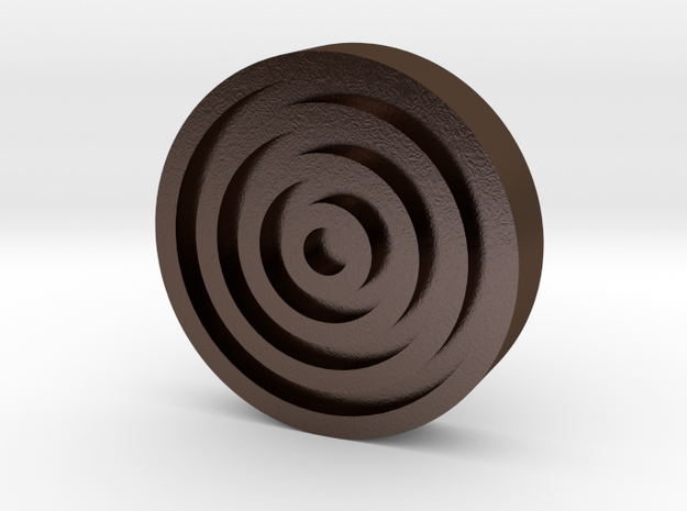 CoolSpin - Bottom Button only in Polished Bronze Steel