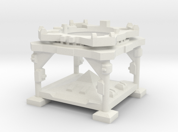 1:144 V-2 Rocket Launch Platform in White Strong & Flexible