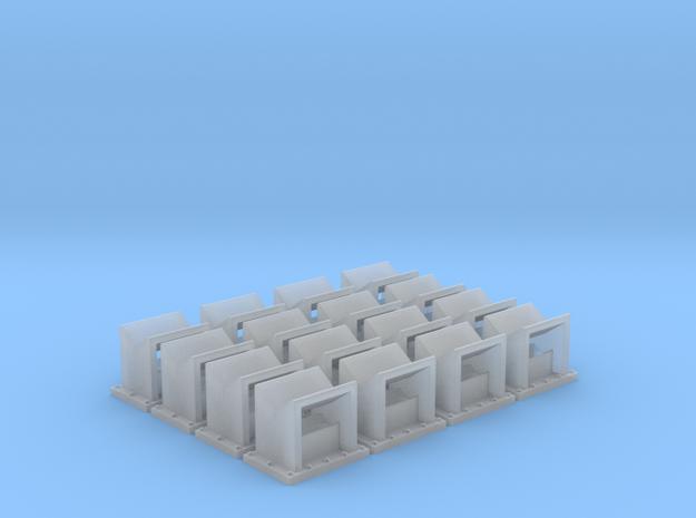 Angled Spark Arrestor (HO - 1:87) 16X in Smooth Fine Detail Plastic