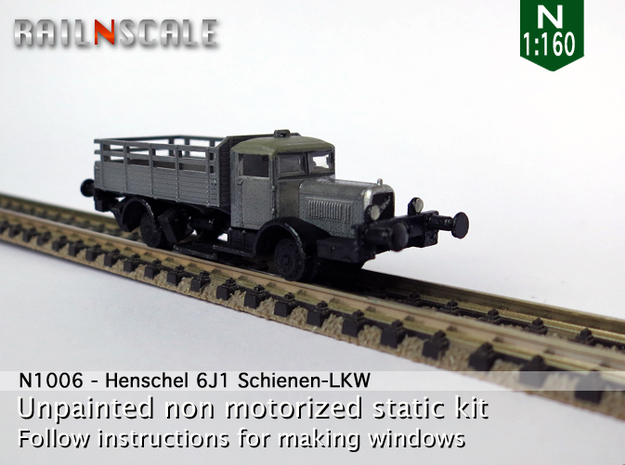 Henschel 6J1 Schienen-LKW (N 1:160) in Frosted Ultra Detail