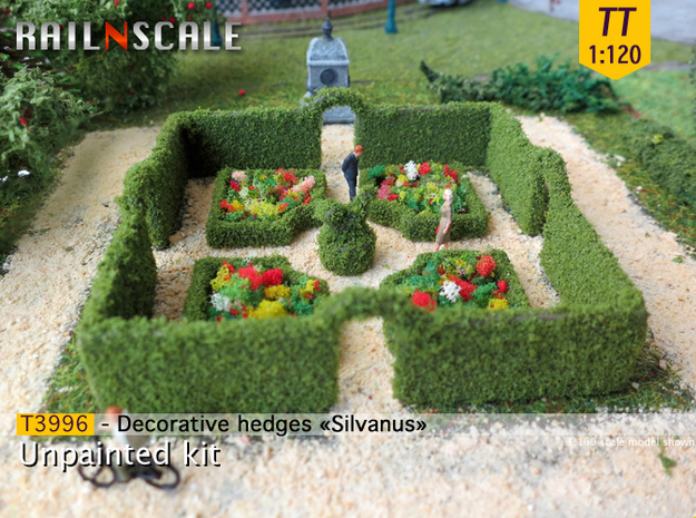 Decorative hedges Silvanus (TT 1:120) in White Strong & Flexible