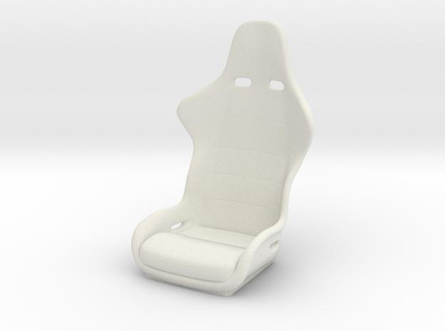 1/6 Scale Recaro Seat in White Natural Versatile Plastic