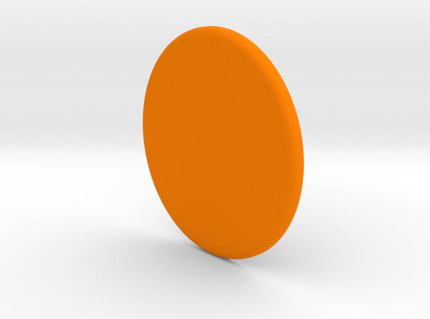 Spinner Cap in Orange Processed Versatile Plastic