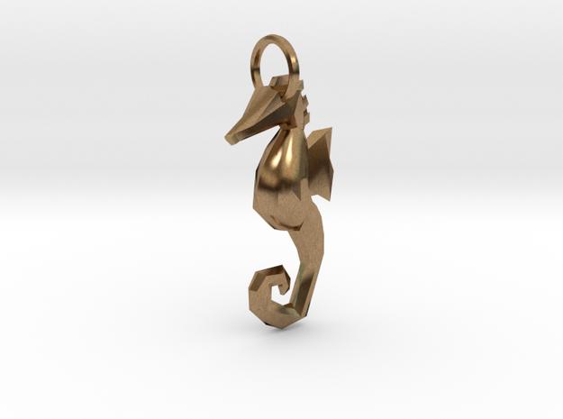 Seahorse low poly pendant