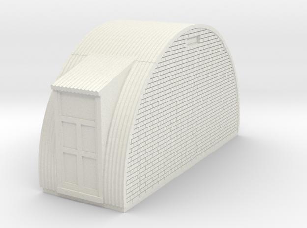 N-87-complete-nissen-hut-end-brick-door-l-16-36-1a in White Natural Versatile Plastic