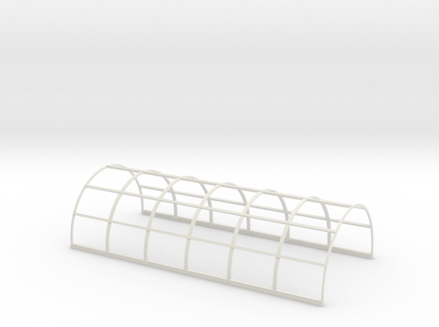 N-87-nissen-hut-frame-16-36 in White Natural Versatile Plastic