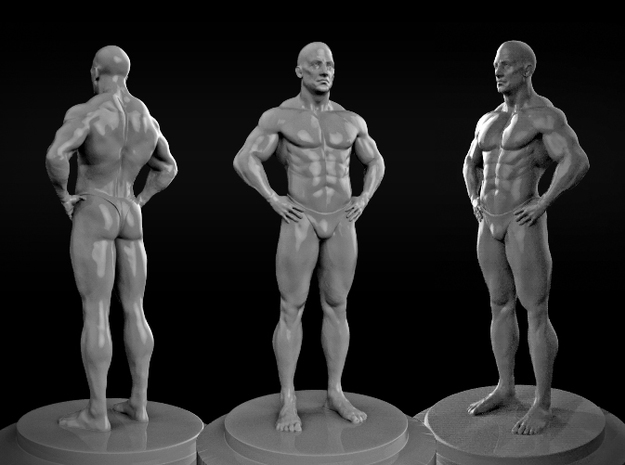 Bodybuilder 3d printed