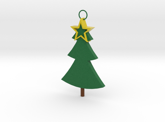 Christmas tree with Star for in your Christmas tre in Full Color Sandstone
